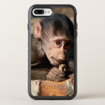 Shy Young Male Hamadryas Baboon (Papio) OtterBox Symmetry iPhone 8 Plus/7 Plus Case