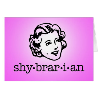 Shybrarian (with face) greeting card