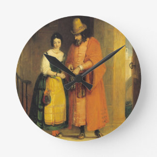 Shylock and Jessica from 'The Merchant of Venice', Round Clock