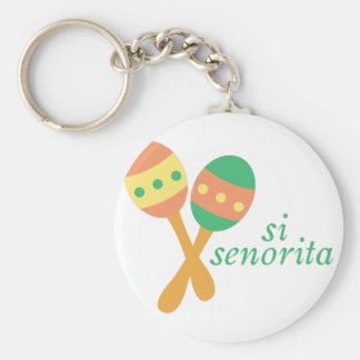 Si Senorita Basic Round Button Key Ring