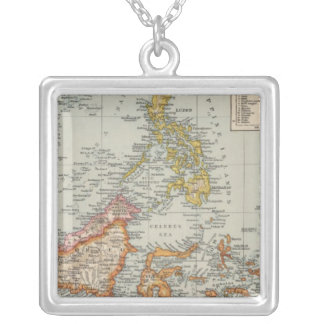 Siam, Malay Archipelago Silver Plated Necklace