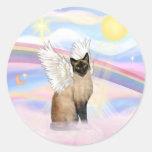Siamese 22 - Clouds Round Sticker