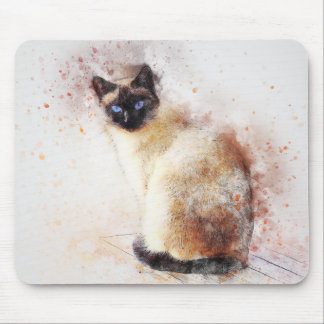Siamese | Abstract | Watercolor Mouse Mat
