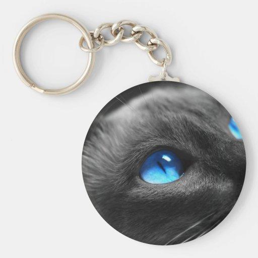 Siamese Blue Eyes Key Chain