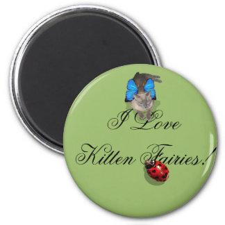 Siamese blue wing cat fairy 6 cm round magnet