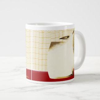 Siamese cat and bamboo jumbo mug