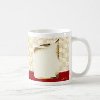 Siamese cat and bamboo coffee mug