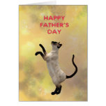Siamese cat and Father's day Greeting Cards