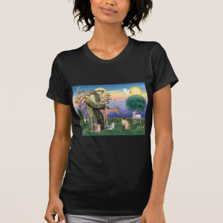 Siamese Cat and St Francis T Shirt