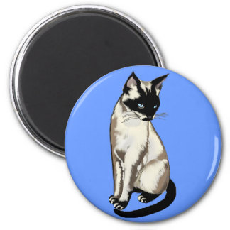 Siamese Cat Animal-lover Magnetic Gifts 6 Cm Round Magnet