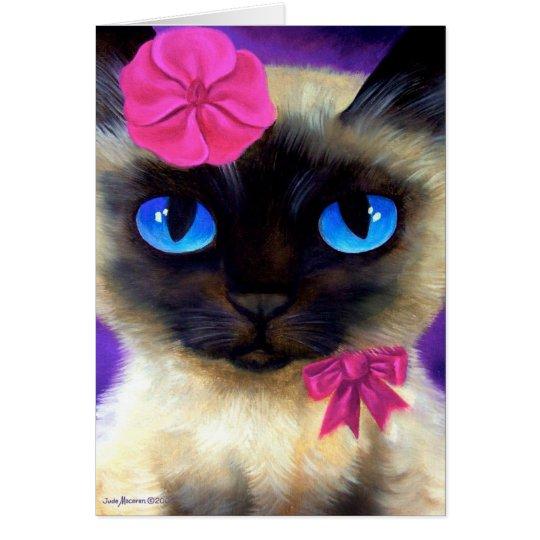 Siamese Cat Art Card