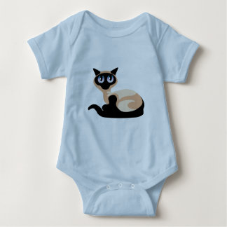 Siamese Cat Baby Bodysuit