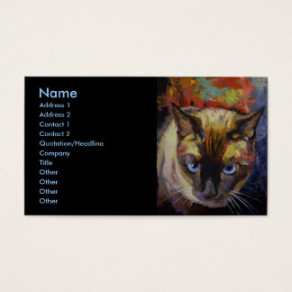 Siamese Cat Business Card