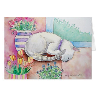 Siamese Cat Card by Molly Harrison