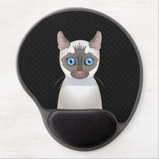 Siamese Cat Cartoon Paws Gel Mouse Mat