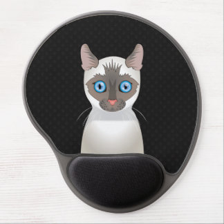 Siamese Cat Cartoon Paws Gel Mouse Pad