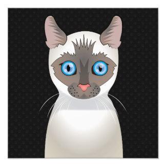 Siamese Cat Cartoon Paws Photo Art