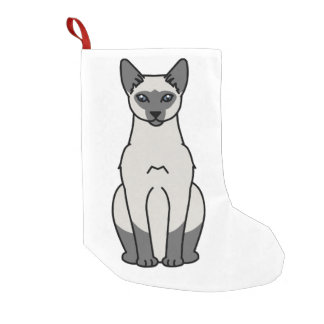 Siamese Cat Cartoon Small Christmas Stocking