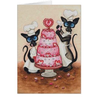 Siamese Cat Chefs by BiHrLe Card