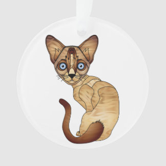 Siamese Cat Circle Ornament