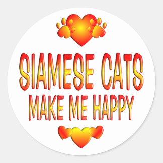 Siamese Cat Classic Round Sticker
