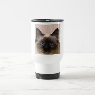 siamese cat crackle old aged cracked Hi Hello Coffee Mugs