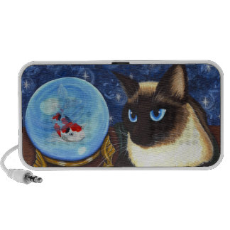 Siamese Cat Crystal Ball Koi Fortune Fantasy Cat A Travelling Speaker
