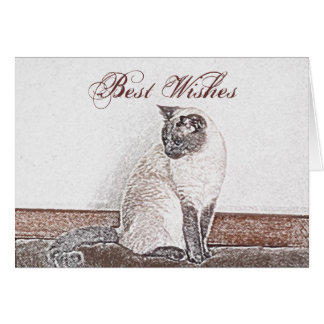 Siamese Cat Customizable Greeting  Card