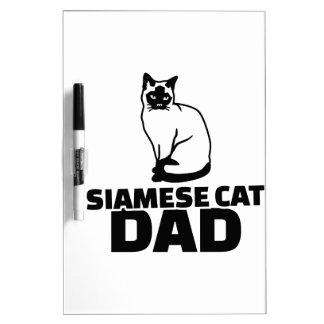 Siamese cat dad dry erase white board