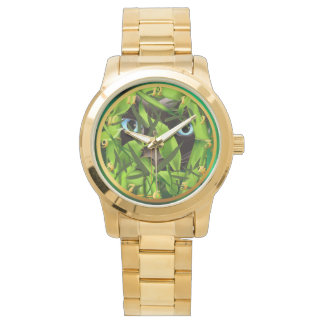 Siamese Cat Eyes in Bamboo Watch