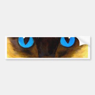 Siamese Cat Feline Art Painting - Multi Bumper Sticker