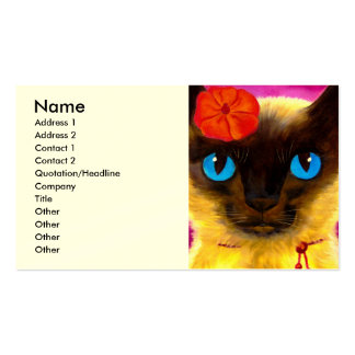 Siamese Cat Feline Art Painting - Multi Pack Of Standard Business Cards