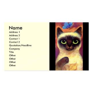 Siamese Cat Feline Butterfly Art - Multi Pack Of Standard Business Cards