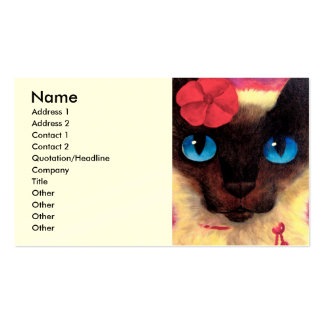 Siamese Cat Feline Pet Painting - Multi Pack Of Standard Business Cards