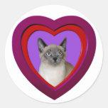 Siamese Cat Heart Sticker