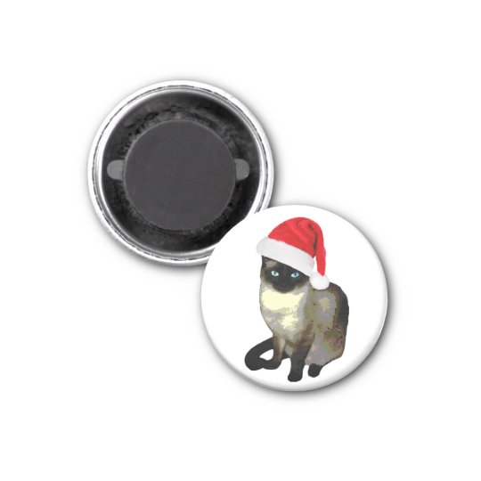 Siamese Cat Holiday Christmas Magnet
