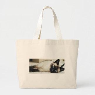 Siamese Cat Jumbo Tote Bag