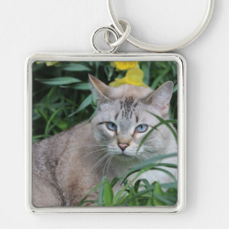 Siamese Cat Key Ring
