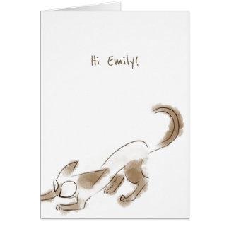 Siamese cat kitten Art Birthday card