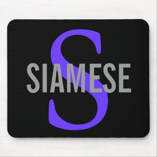 Siamese Cat Monogram Design Mouse Pad
