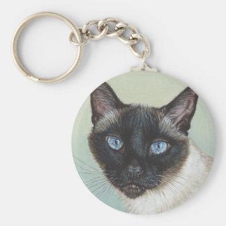 Siamese Cat Murphy Key Ring