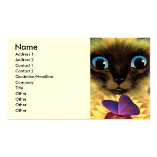 Siamese Cat Painting With Butterfly - Multi Business Cards