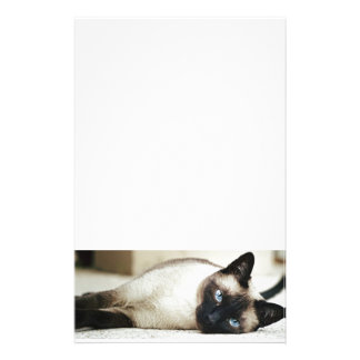 Siamese Cat Pet Personalized Stationery