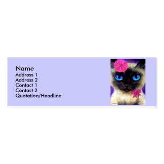 Siamese Cat Profile Card Pack Of Skinny Business Cards