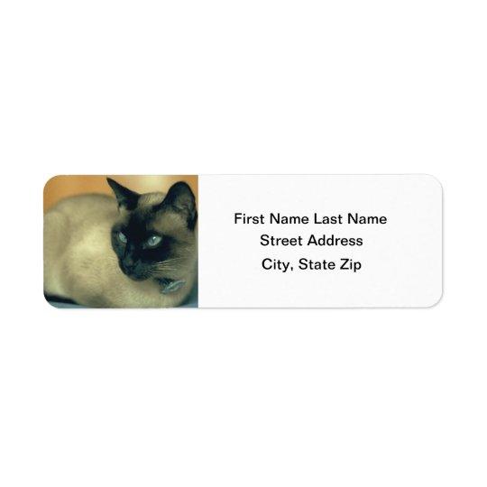 Siamese Cat Return Address Label
