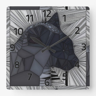 Siamese Cat Stained Glass Style Design Wall Clock