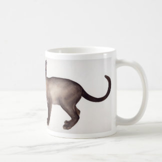 Siamese cat watercolor with breed information text coffee mug