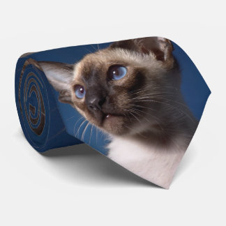 Siamese Cat with Blue Eyes Tie