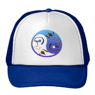 Siamese Cat Yin and Yang Hat