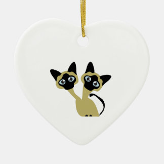 Siamese Cats Christmas Ornament